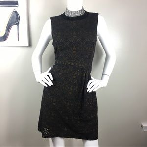 NANETTE LEPORE black brown lace dress 6-CG463